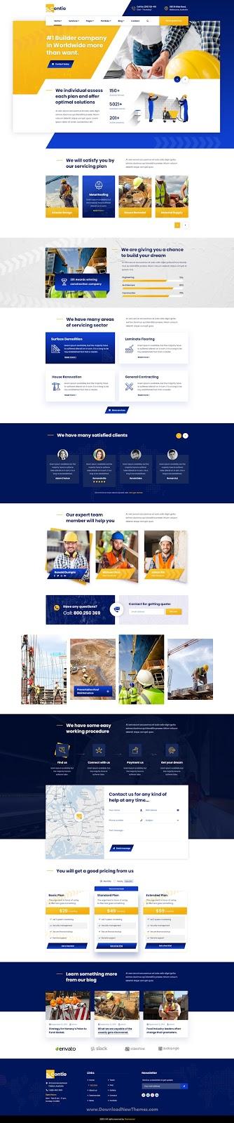Contio - Construction PSD Template