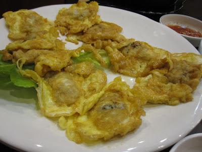 ChoWon Garden, oyster omelette