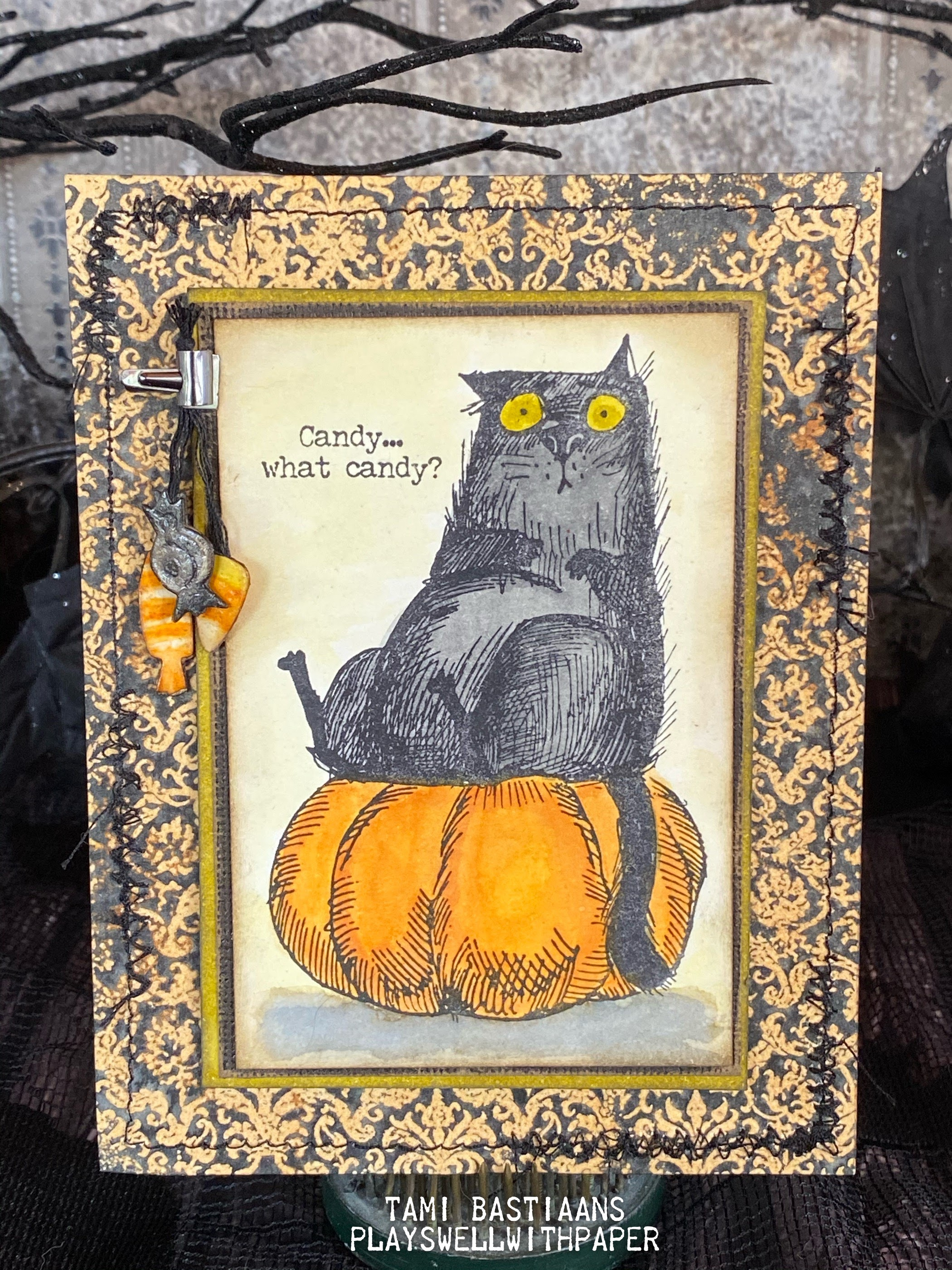 Plays Well With Paper Candy What Candy Snarky Halloween Cats Stampers Anonymous