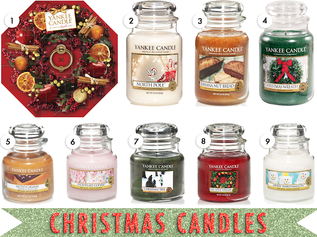 christmas gift guide 2013, christmas gift ideas for candle fans, christmas scented candles, yankee candle christmas scents