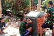 Satgas TMMD Ke-111 Bangun Tugu Sebagai Tanda TNI Manunggal Bersama Rakyat