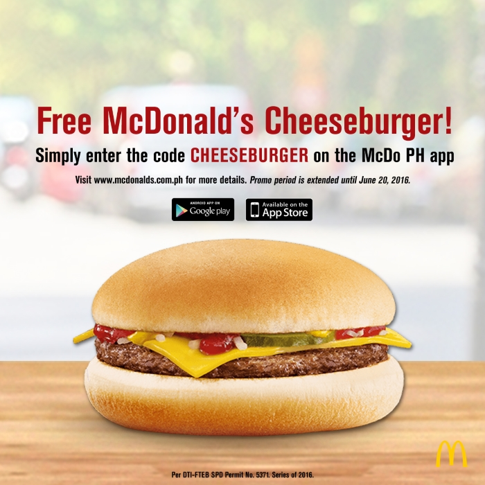 Code Promo Mcdo : the food alphabet and more free cheeseburger at mcdonald 39 s ~ Medecine-chirurgie-esthetiques.com Avis de Voitures