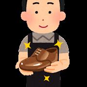 靴磨き職人のイラスト