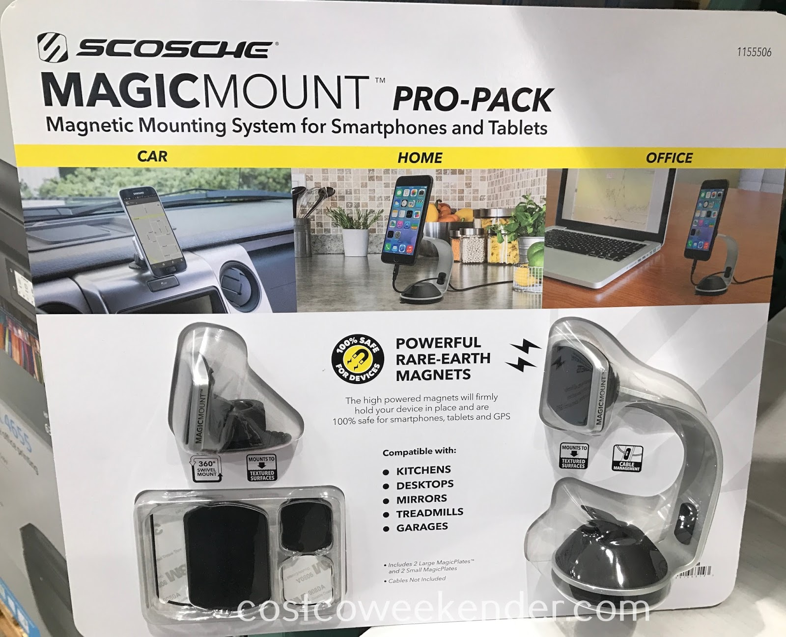 Conveniently charge your mobile device with the Scosche Magic Mount Pro-Pack Magnetic Mounting System