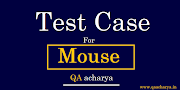 Test Cases For Mouse
