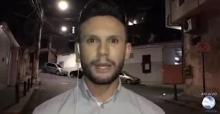 Ao vivo, repórter da RecordTV é ameaçado de morte e se desespera; assista