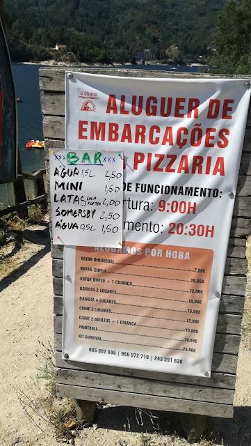 Aluguer de embarcações - Preços