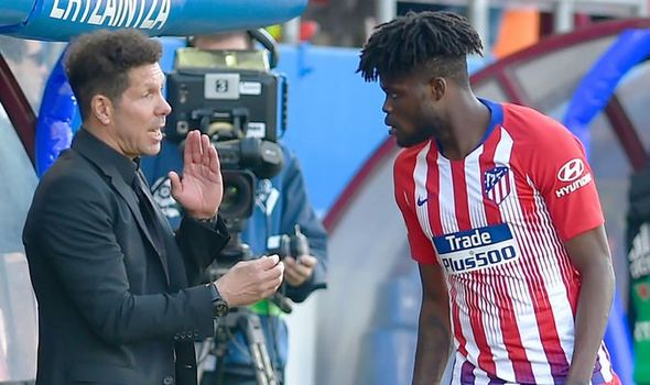 Atletico Madrid boss Diego Simeone is left frustrated after losing Thomas Partey to Arsenal.
