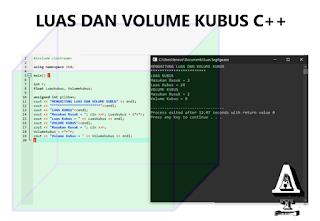 Contoh Program C++ Menghitung Luas dan Volume Kubus
