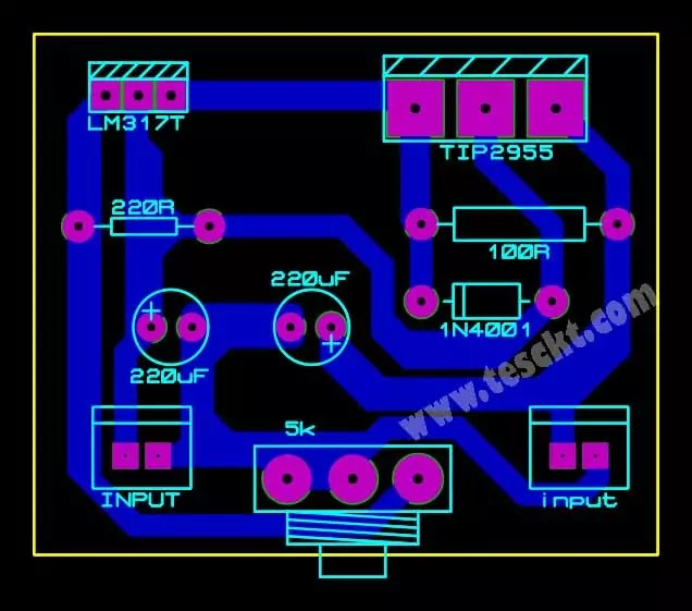 high current power supply pcb top