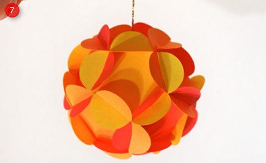 Origami bunga gantung