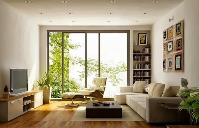 Thiết kế phòng khách Eco Lake View tràn ngập ánh sánh tự nhiên