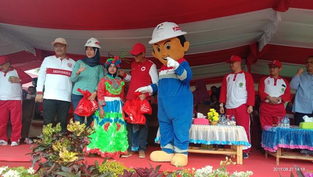 Badut dan Mubil Hias Pertamina Pendopo Ramaikan Karnaval Hut RI di PALI