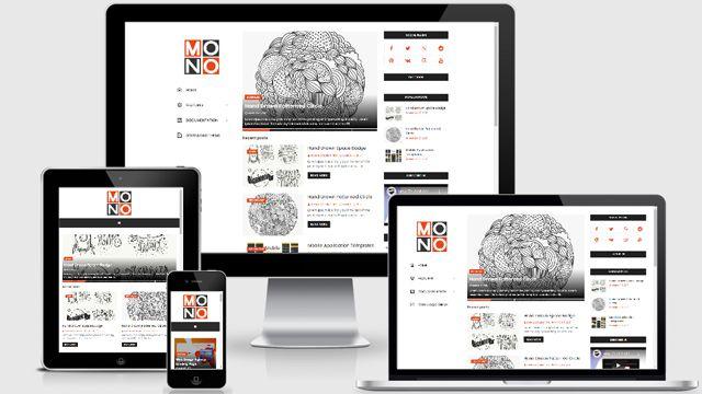 Template Mono Pro Blogger