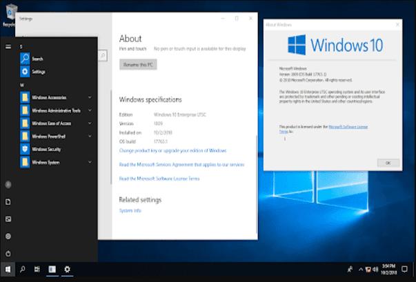 افضل واخف نظام تشغيل Windows 10 LTSC للاجهزة الضعيفة والمتوسطة