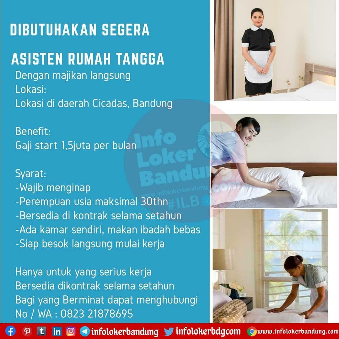Dibutuhkan Segera Asisten Rumah Tangga Bandung Oktober 2020