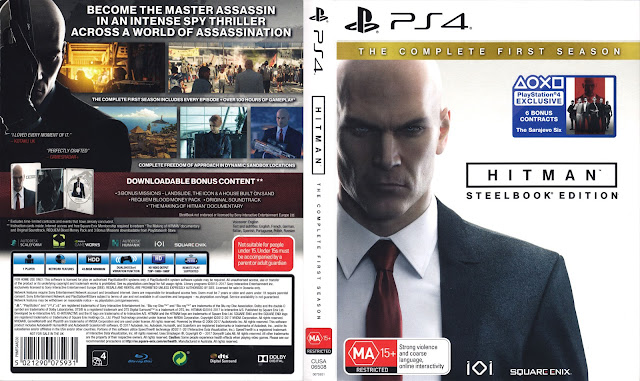 Capa Hitman The Complete First Season Steelbook Edition PS4