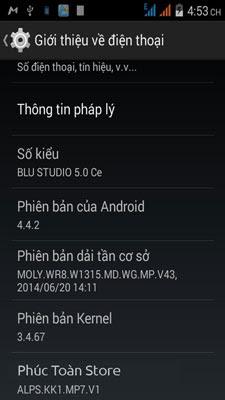 Tiếng Việt Bludio 5.0 CE D536 4.4.2 alt