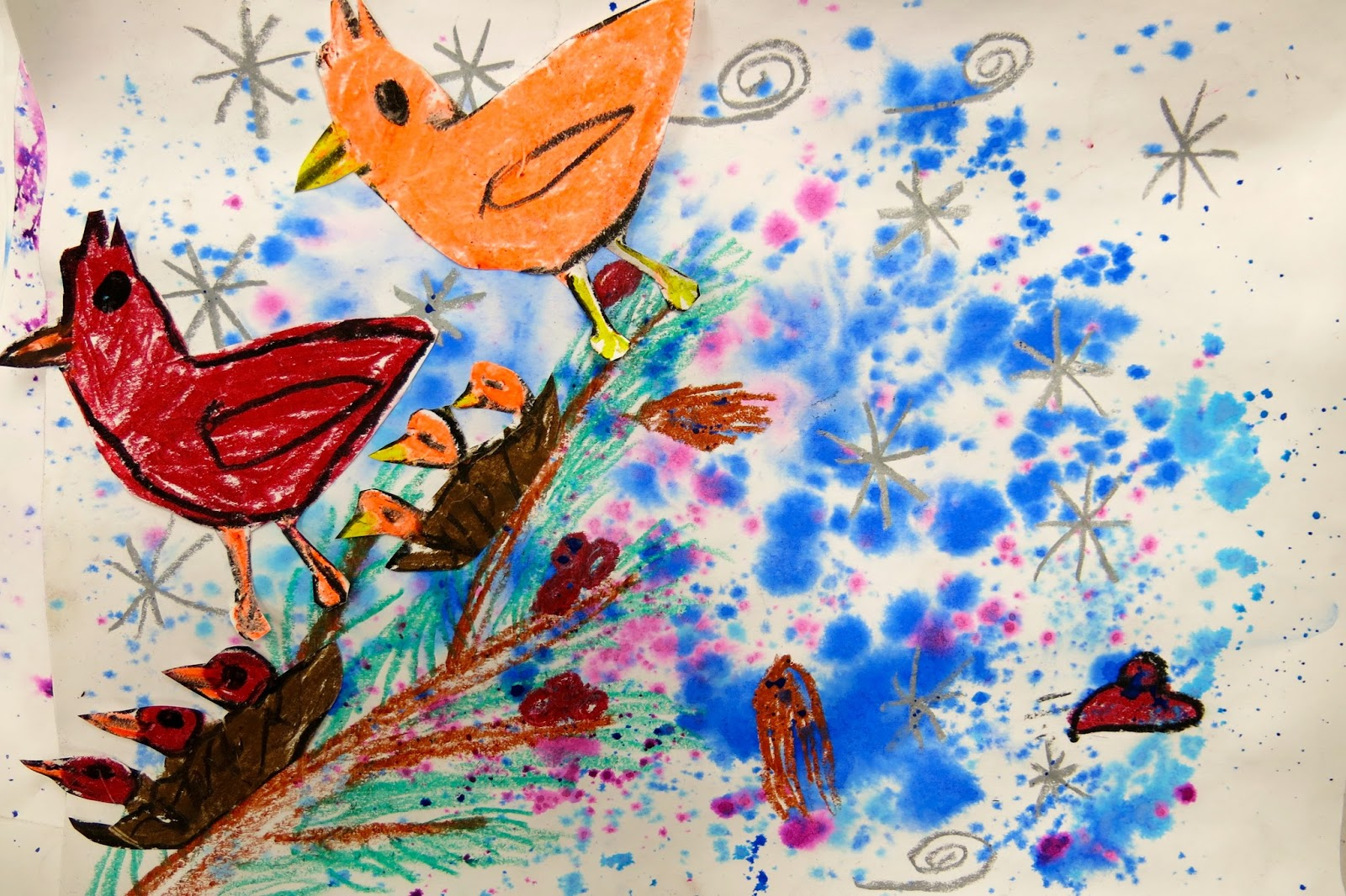 In The Art Room Winter Mixed Media Masterpieces