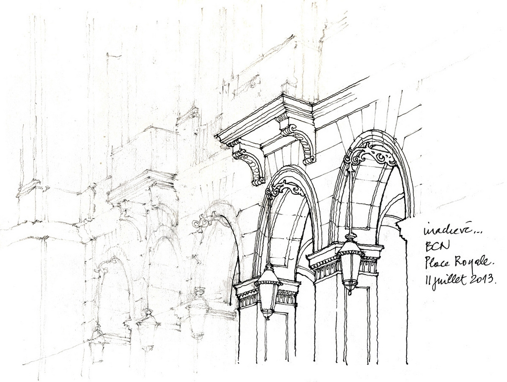 04-Barcelone-arches-Gérard-Michel-Urban-Architectural-Drawings-from-your-Teacher-www-designstack-co