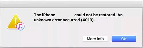 رسالة خطأ iPhone 4013