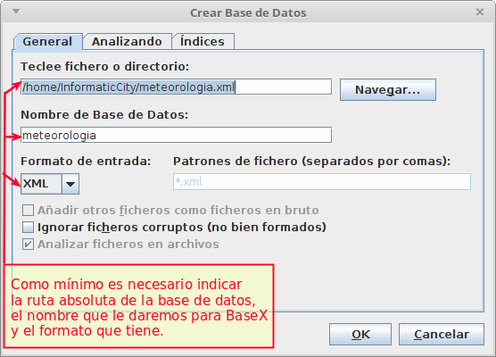 seleccionar base de datos