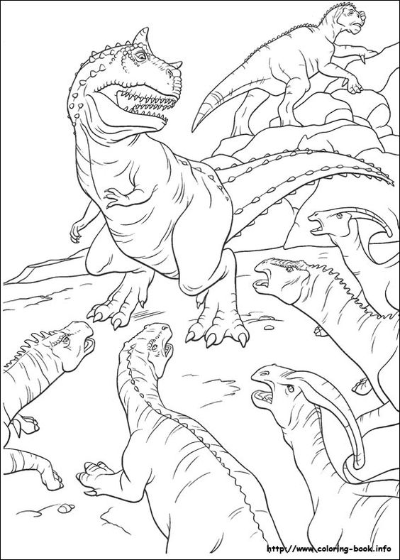 Dinosaurs coloring pages 32