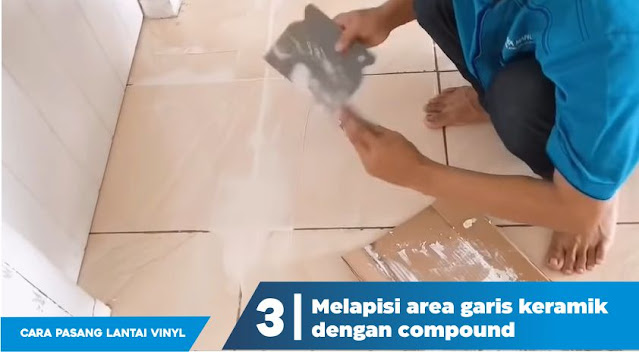 cara pasang lantai vinyl