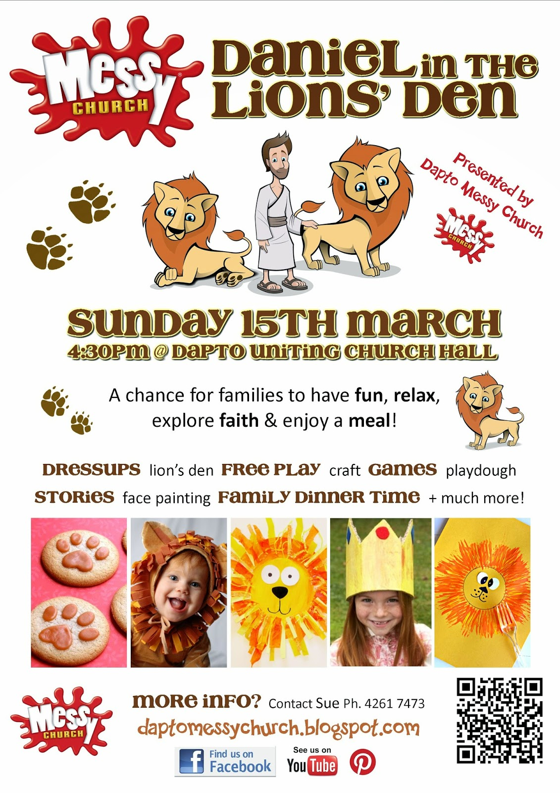 Messy Church Dapto Uniting Invite Daniel In The Lions