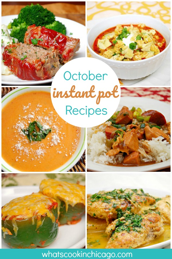 Best Instant Pot Recipes for October (photo collage)