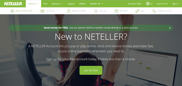 Neteller Home Page