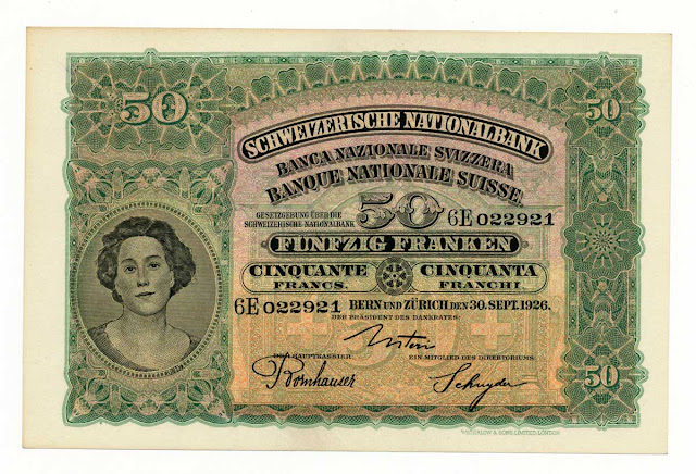 SWITZERLAND 50 FRANCS banknote Swiss National Bank