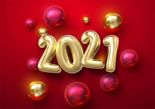 Happy New Year Backdrop 2021