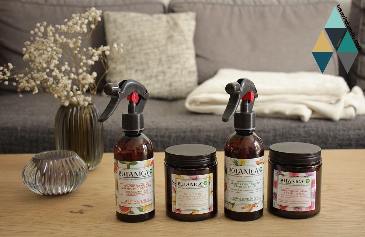 avis et test parfums intérieur naturel botanica airwick