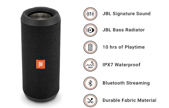 JBL Flip 3 Bluetooth Speaker At 33% Discount June 2019