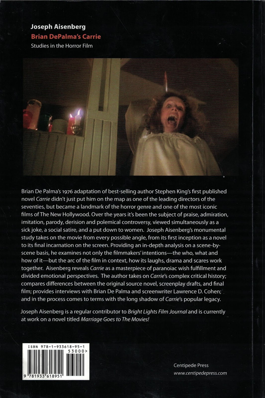 The Truth Inside The Lie A Review Of Studies In The Horror Film Brian De Palma S Carrie