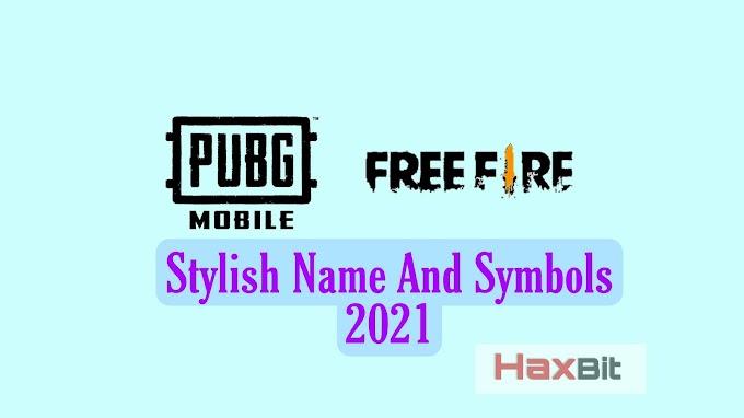 PUBG Mobile-Free Fire Stylish Name Symbol 2021 [FF Clan, Guild Name Ganarator]