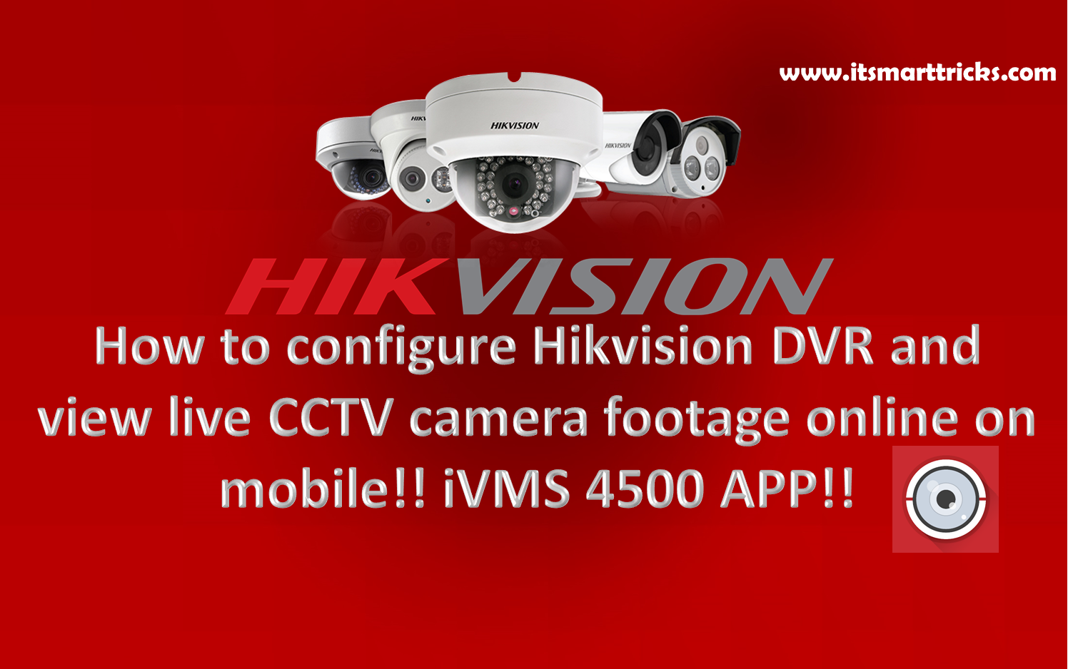 How to configure Hikvision DVR and view live CCTV camera footage online on mobile!! iVMS 4500 APP