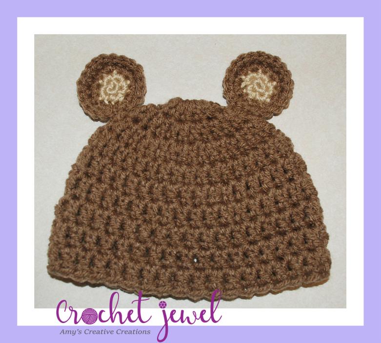 dd42ebcd2ce Amy s Crochet Creative Creations  Crochet Newborn Bear Hat