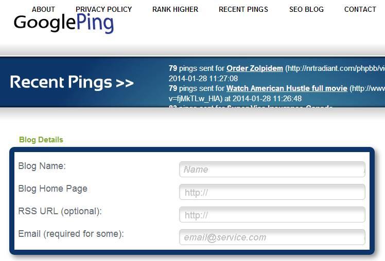 Google Ping Situs Ping Otomatis