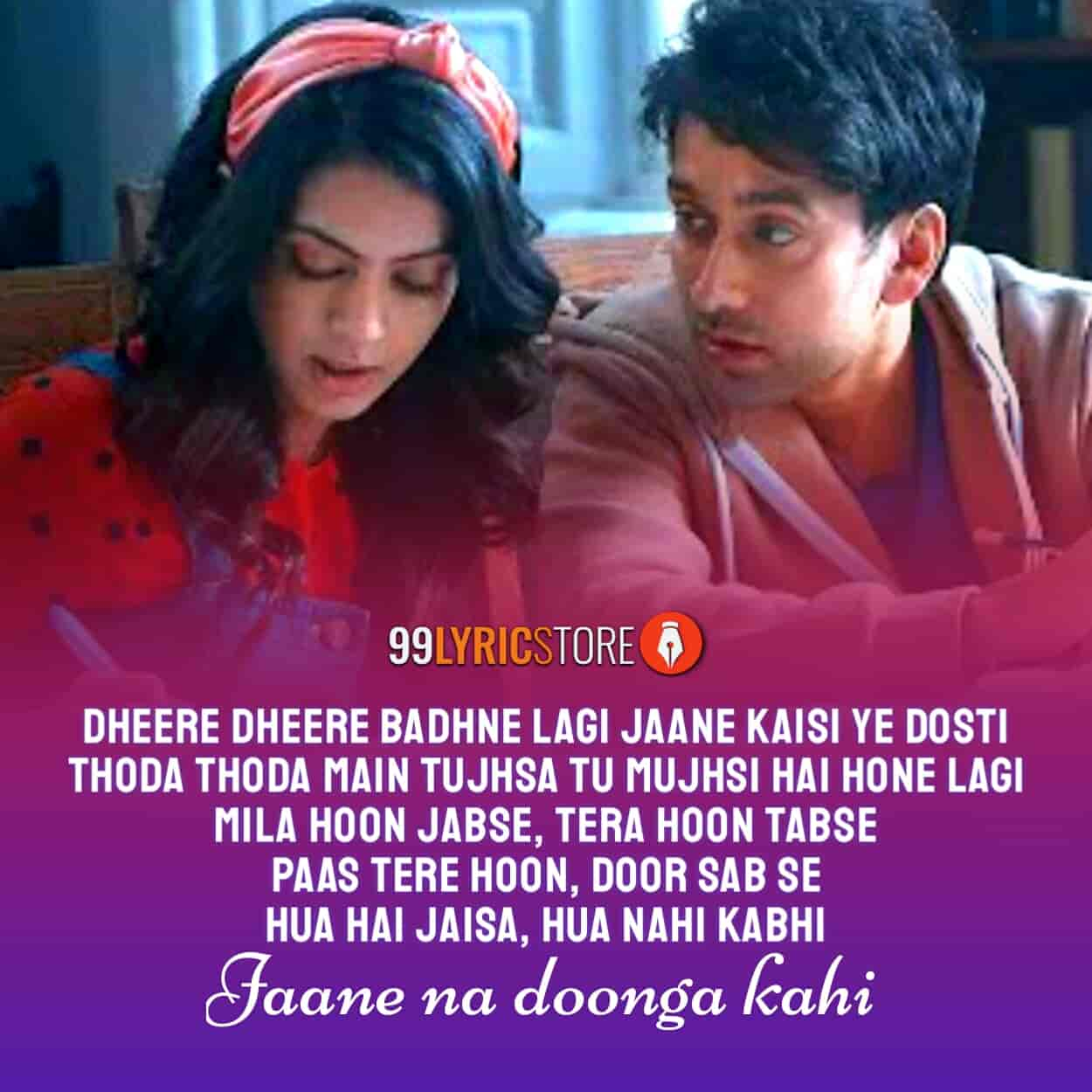 Jaane Na Dunga Kahin song images from album Never Kiss Your Best Friend