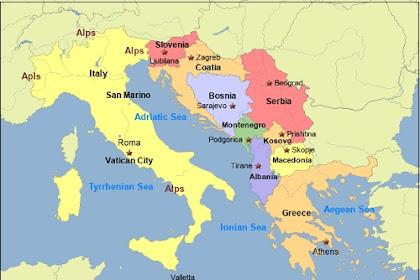 Negara-Negara di Eropa Selatan Beserta Ibukotanya