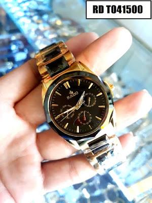 Đồng hồ đeo tay nam mặt tròn dây đá ceramic RD T041500