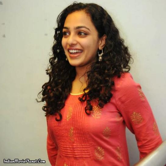 actress nithya menon hot tight red salwar stills