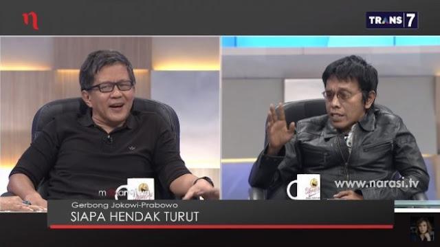 Lawan Ejekan Rocky Gerung untuk Jokowi, Adian Disoraki Penonton Mata Najwa