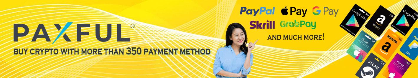 Beli Kripto dengan Paypal dan 350+ Metode Pembayaran lainnya