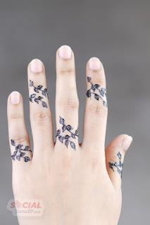 Bridal Modern Mehndi for finger