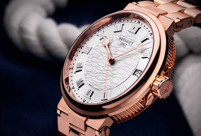 Breguet Marine 5517 in rose gold with matching bracelet