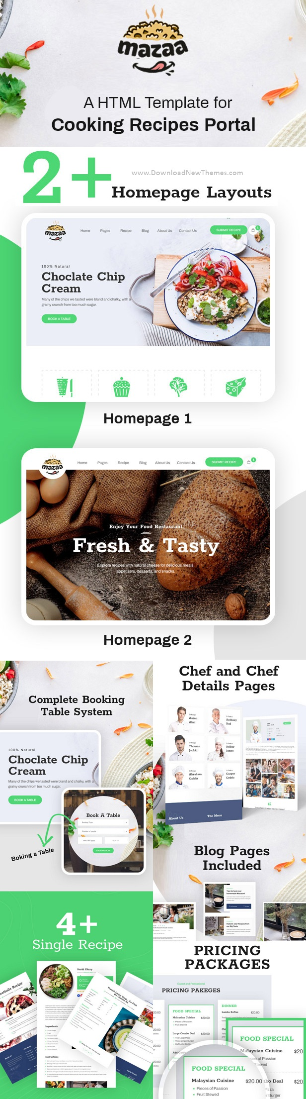 Responsive Restaurant or Eatery Template