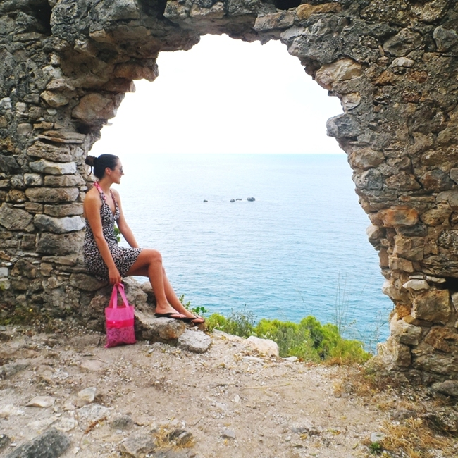 Jelena Zivanovic Instagram @lelazivanovic.Glam fab week.Kastro the castle of Parga photos.Kastro tvrdjava Parga.